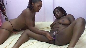 BBW ebony lesbian girls at sexy party