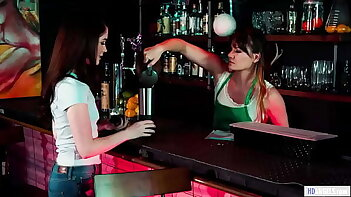 Clumsy Barista Having Lesbian Sex With Guest - Alison Rey, Evelyn Claire