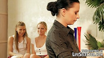 A dominating teacher gives a painful lesson for her students